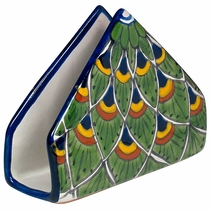 Talavera Peacock Design Napkin Holder