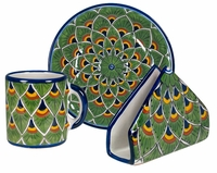 Talavera Peacock Design Pattern Group  sc 1 st  Direct From Mexico & Mexican Talavera Dinnerware Pattern Groups