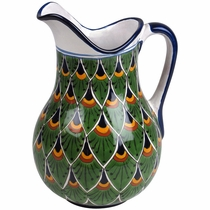 Talavera Peacock Pitcher