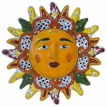 Talavera Pointed Ray Hanging Sun Face - 12""