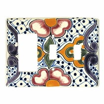 Talavera Rocker & Double Switch Cover