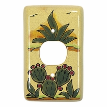 Talavera Single Plug Cover - Cactus