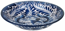 Talavera Soup Bowl - Blue & White
