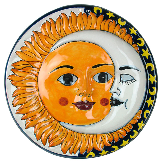 Talavera Sun Moon Wall Hanging 14