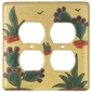 Talavera Switchplates - Cactus Double Outlet Cover