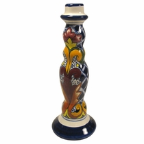 Talavera Tall Yellow Cross Candleholder