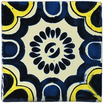 Mexican Talavera Tile - Hand Painted Ceramic Mexican Tiles