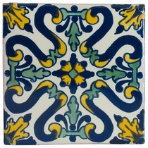 "4"" Talavera Tile - PP2122 - 15 Tiles"