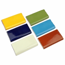 Talavera Tile - Solid Color Rounded Edge Pieces - 15 per box