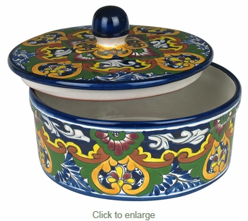 Talavera Tortilla Container with Lid