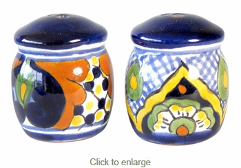 Talavera Traditional Salt & Pepper Shakers - Pair