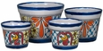 Talavera Violet Pots - Set of 4