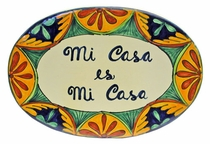 Talavera Wall Plaque - My House is My House