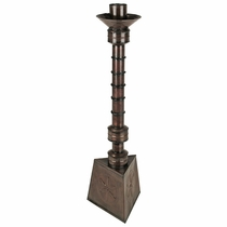 Tall Mexican Aged Tin Candlestick
