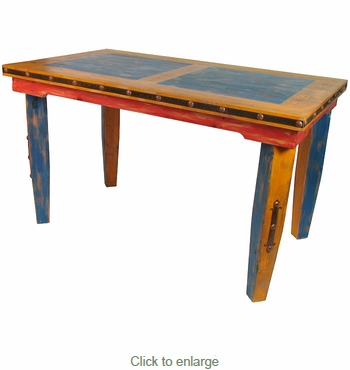 Multi Color Tall Dining Table Mexican Country Style