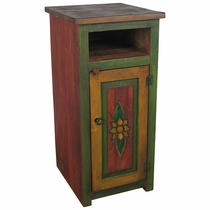 Tall Painted Wood Skinny TV Stand