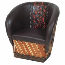 Tanned Cowhide Equipale Leather Chair