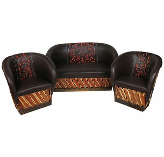 Brilliant Tanned Cowhide Equipale Loveseat 2 Chairs Set Onthecornerstone Fun Painted Chair Ideas Images Onthecornerstoneorg