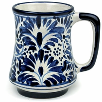 Tapered Talavera Blue & White Coffee Mug