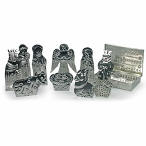 Tin Box Nativity 10-Piece Set