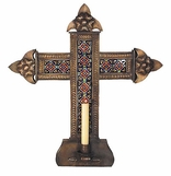 Tin Candle Holder Crosses