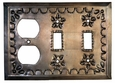 Tin Outlet & Double Switch Cover - Star
