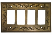 Tin Southwest Quadruple Rocker Plate