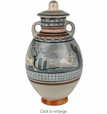 Tonala Pottery - Handled Jimon Vase