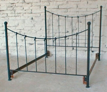 Top Knot Forged-Iron Bed