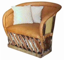 Traditional Closed Back Cushioned Lounge Chair
