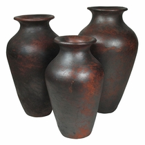 Traditional Cocucho Floor Vases - Set of Three