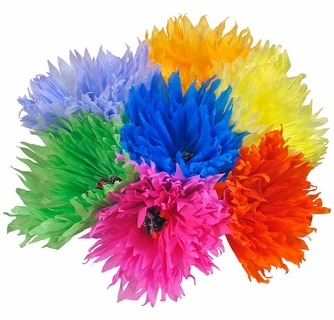 Traditional mexican paper flowers jumbo size set of 6 traditional mexican paper flowers jumbo size bouquet of 6 mightylinksfo