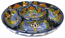 Traditional Talavera Appetizer Set - 7-Piece