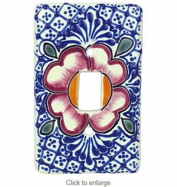 Traditional Talavera Single Switchplates