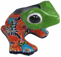 Triangle Headed Talavera Frog Pot