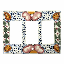 Triple Rocker Talavera Switchplate