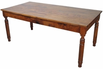 Turned Leg Colonial Mesquite Dining Table