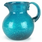 Turquoise Glass Mexican Water Pitcher