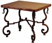 Tuscany Iron Base End Table with Copper Top