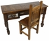 Western Desk and Chair with Cowhide Accents
