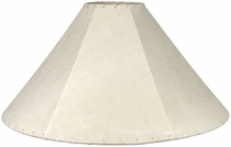 White Pigskin Lamp Shade