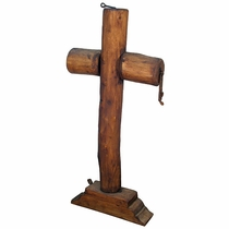 Rustic Wood Viga Floor Cross