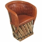 Woven Back Equipale Barrel Chair