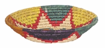 Multi-Color Woven Palm Bread Baskets - Set of 2