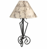 Wrought Iron Floor and Table Lamps