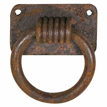 Wrought Iron Spiral Pull Ring - Pack of 4