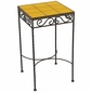 Wrought Iron - Talavera Tile Side Table - 9 or 12 Tiles - Yellow