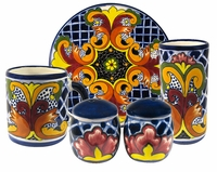 Yellow Cross Pattern Group - Talavera Tableware  sc 1 st  Direct From Mexico & Mexican Talavera Dinnerware Pattern Groups