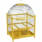Yellow Wooden Bird Cage - Round Top