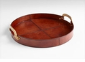 17 Inch Bryant Tan Tray by Cyan Design